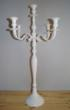 WhiteMetal Candleholder5Arm80cmSm