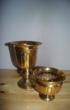 BrassGold BRASS FLOWER POT sml